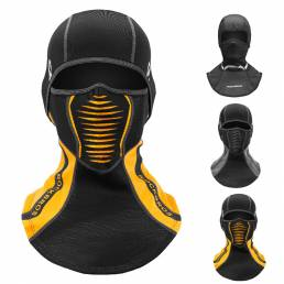 ROCKBROS pasamontañas invierno esquí ciclismo Mascara vellón a prueba de viento cálido Sombrero bufanda hombres cara tér