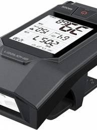 SHANREN 400LM Faro de bicicleta multifunción 2.1 pulgadas LCD 3 modos Luz delantera de bicicleta USB recargable con comp