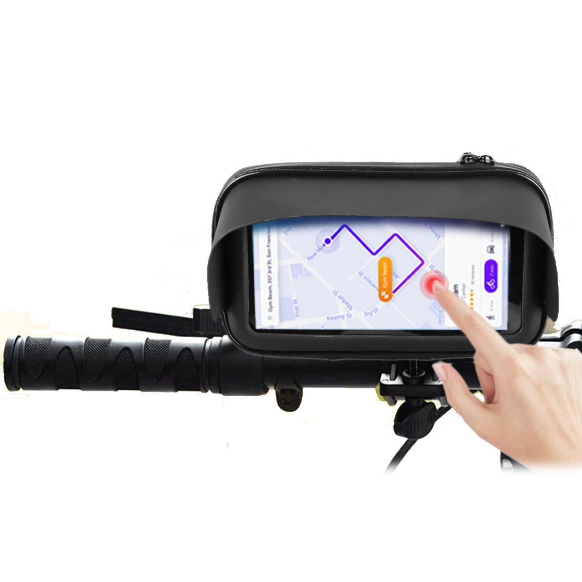 BIKIGHT 6.3 `` Impermeable Moto Teléfono celular de bicicleta / GPS Soporte Caso Bolsa Soporte para manillar Teléfono in
