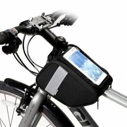 SAHOO 600D Poliéster 6.0 Pulgadas Pantalla táctil Ciclismo Bicicleta Teléfono móvil Bolsa Bicicleta Marco delantero Bols
