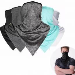 Malla Tela Protección solar Mascara Triángulo Bufanda Montar turbante Secado rápido Ciclismo Sombra de la cara