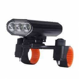 Luz de bicicleta recargable XANES® 3xT6 Super brillante IPX6 Impermeable LED Faro de bicicleta 5 modos Luz delantera de