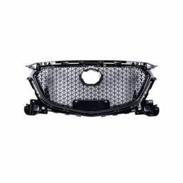 Parachoques delantero Parrilla Cubierta de la parrilla superior Protector ABS plástico Coche Styling para Mazda 3 Axela
