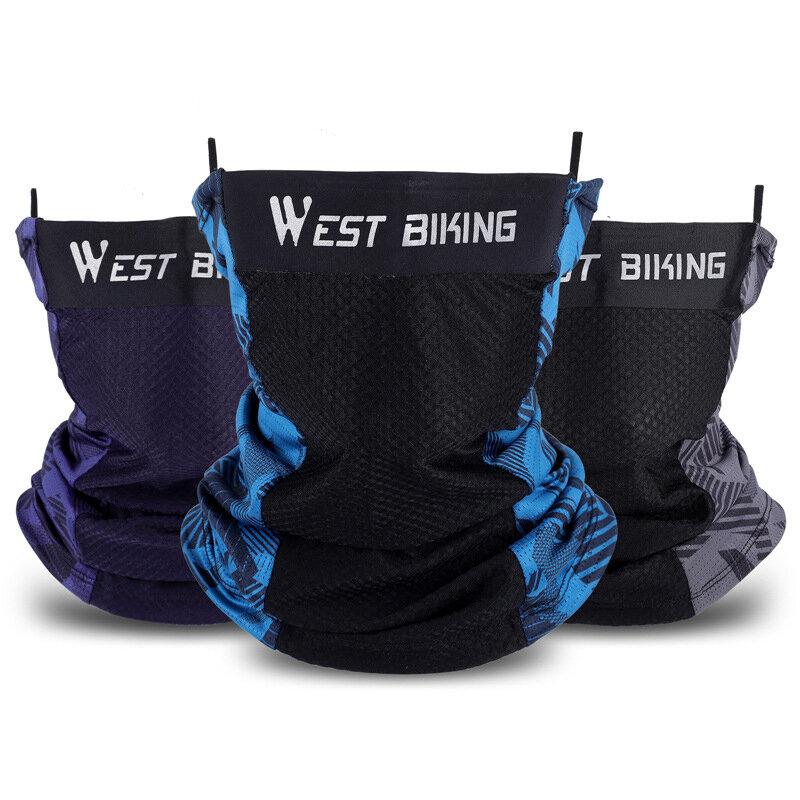 WEST BIKING Capucha de protección solar de seda de hielo RidingFace Mascara Bicicleta transpirable Mascara con fuerte el