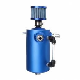 0.5L Oil Catch Tank Can Reservoir Reservoir Blue Aleación de filtro para Coche Racing Motor