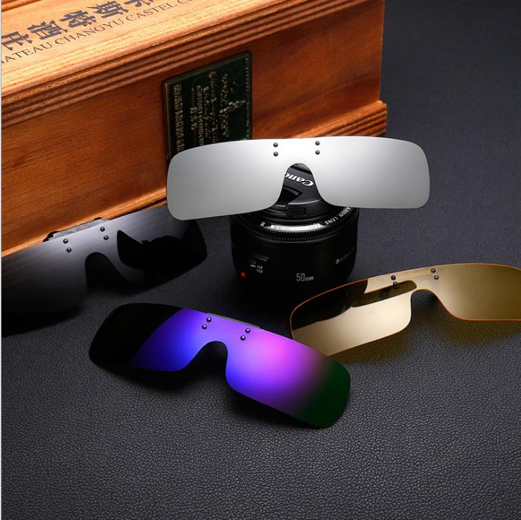 Clip cuadrado para conducción nocturna polarizada Gafas con amarillo pesca Mujer Clips para gafas de sol para Myopic