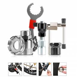 WEST BIKING Reparación de bicicleta multifuncional herramientas Soporte de cortador de cadena Extractor de volante Extra