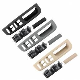 Ajuste de manija de bisel de panel de interruptor principal de ventana de 3 piezas para VW Passat Jetta Golf