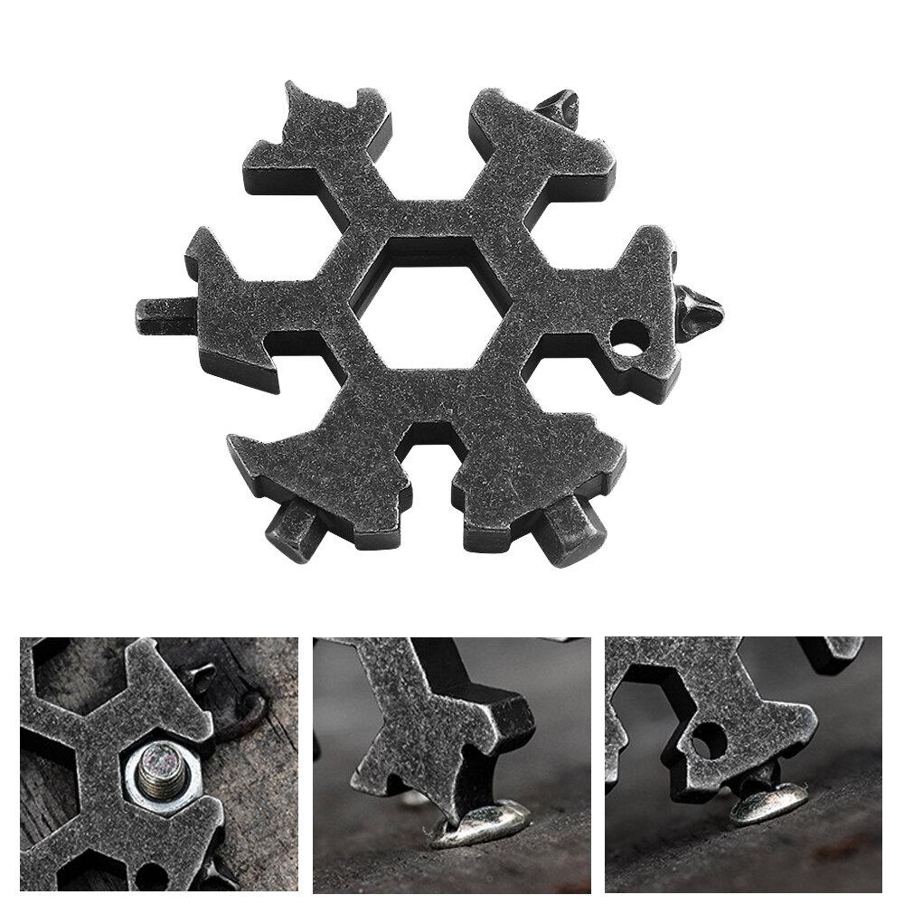 VOLKEN 16-en-1 Snowflake Multiherramientas Llave hexagonal Llave Ranurada / Phillips Destornillador Bolsillo EDC multipr