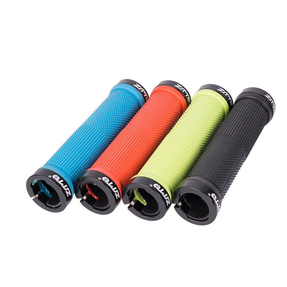 ZTTO AG-16 22mm 34x130mm bloqueo bilateral antideslizante disponible goma de aleación de aluminio 1 par x agarre de bici