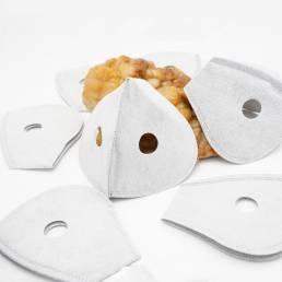 100 piezas de 5 capas de filtro universal de carbón activado Anti Cara de polvo Mascara Filtro de inserción