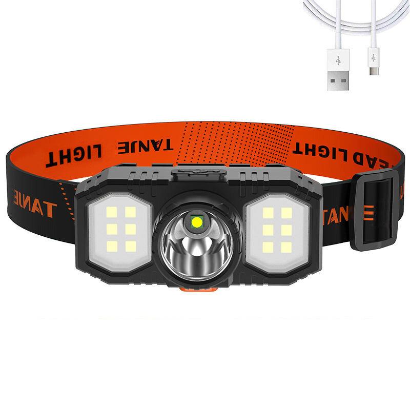 Linterna frontal para bicicleta XANES® XPE + COB 3 modos USB ajustable recargable LED Luz de trabajo Impermeable Lintern