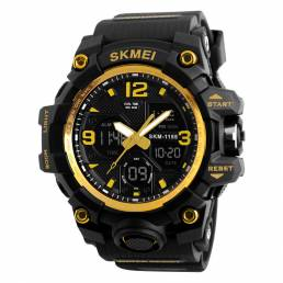 SKMIE 1155B Marca Impermeable EL Light Men Sport S Shock Watch Dual Pantalla Analógico Digital LED Relojes electrónicos