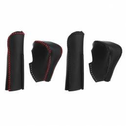 Cubierta del puño del freno de mano de la palanca de cambios de cuero de la PU para Honda Civic 8va generación