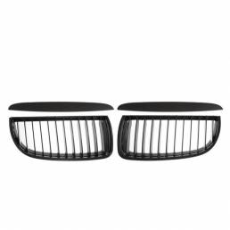 Parrilla de rejillas de riñón delantera negra mate con párpados superiores para BMW E90 E91 Serie 3 Sedán 2004-2008 Sedá