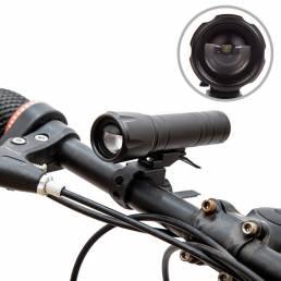 Luz delantera de bicicleta desmontable 2 en 1 360LM 100 metros Bicicleta de tiro largo Lámpara Portátil Impermeable LED