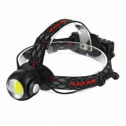 BIKIGHT 1315B 650LM T6 + COB LED Luz de cabeza de antorcha de faro recargable USB Lámpara para caza Ciclismo de montaña