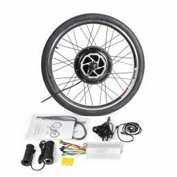 26 pulgadas 48 V 500 W Juego de accesorios para bicicletas eléctricas Ruedas delanteras motor Freno de disco de neumátic