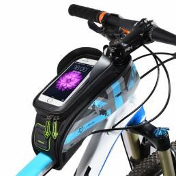 ROCKBROS021BicicletadecarreteraMTB Bolsa Pantalla táctil a prueba de lluvia Ciclismo Parte superior Tubo marco Bols