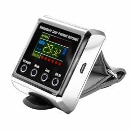 Máquina de terapia láser de muñeca Diabetes de baja frecuencia Hipertensión Tratamiento de colesterol Diodo LLLT Reloj M