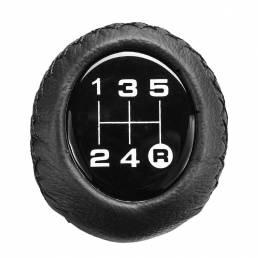 Universal 5 velocidades Coche Palanca de cambios de cuero Cambio manual Palo Palanca de cambio de cambios