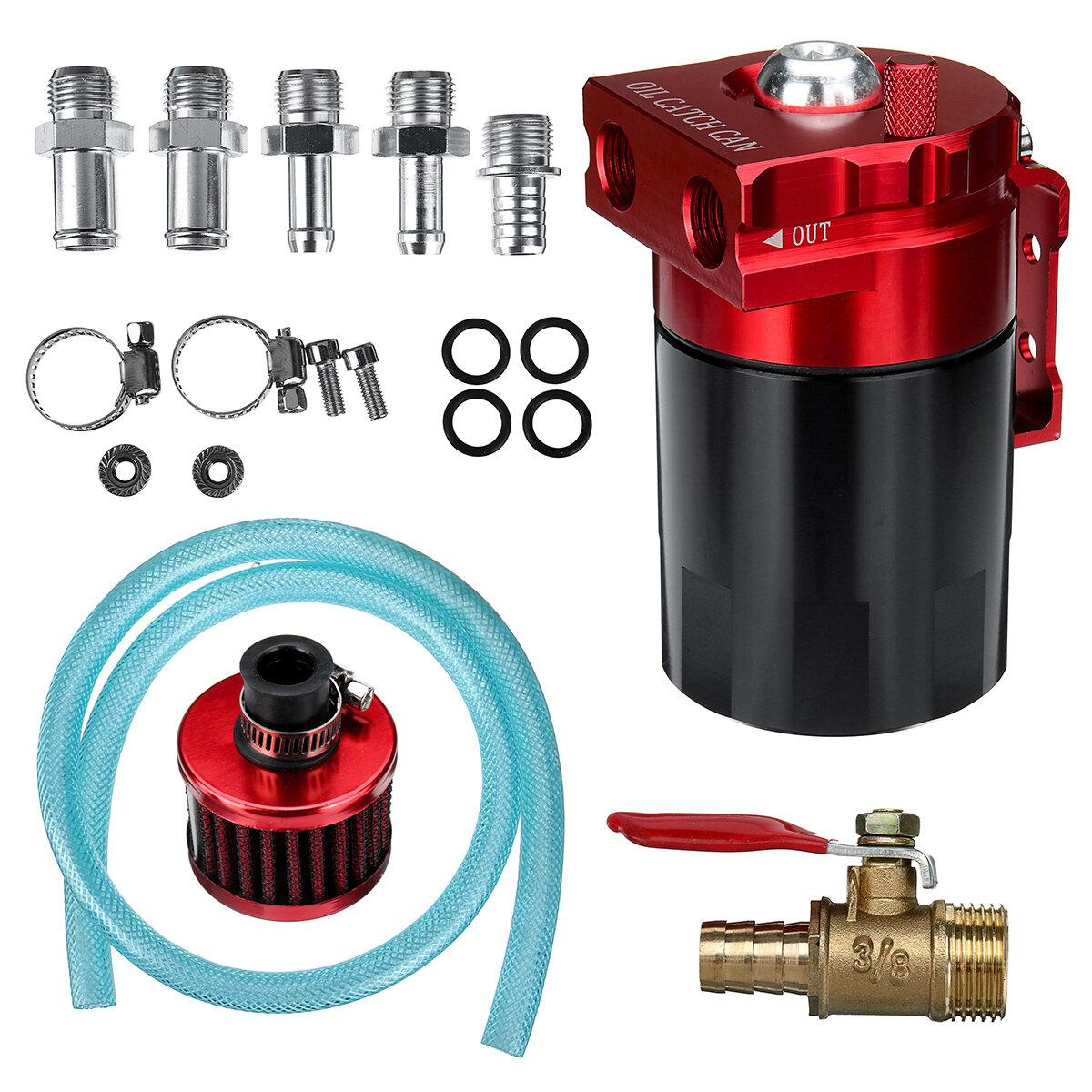 Depósito universal de 300 ml Oil con filtro de ventilación Rojo / Azul para la modificación Coche