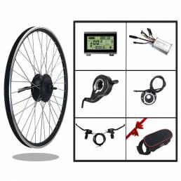 BIKIGHT KT-LCD3 Pantalla Kit de conversión de bicicleta eléctrica 24 V 250 W tracción delantera motor Buje de rueda de b
