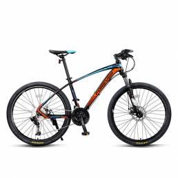 FOREVER Bicicleta de montaña de 26 pulgadas 27 velocidades Línea de bajo alcance Frenos de disco Bujes de doble cojinete