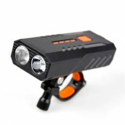 BIKIGHT 3 modos Vista grande USB Carga rápida Disipación de calor inteligente LED Luz de advertencia de alto brillo Faro