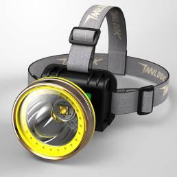 COB / LED Faro de bicicleta de inducción USB Luz de cabeza recargable Powerbank al aire libre cámping pesca Coche Repara