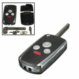 Plegado tirón sin cortar clave remoto caso de cáscara sin llave para honda accord 3 + botón de pánico