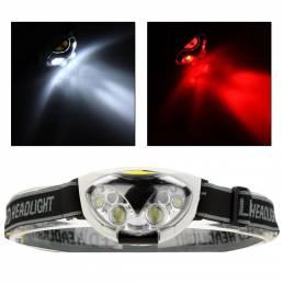 XANES®1200LM6LED3*AAA HeadLamp Impermeable al aire libre cámping Senderismo Ciclismo pesca Luz