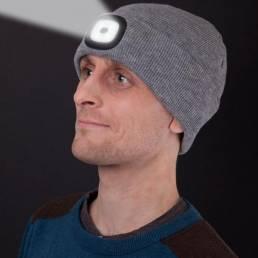 4 LED 3 modos Gorra con luz brillante Invierno Cálido Ciclismo Caza Tejido Sombrero