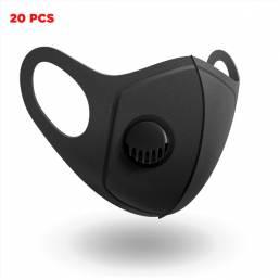 20 piezas PM2.5 mascarillas cámping ciclismo de viaje filtro de 3 capas mascarilla antipolvo transpirable
