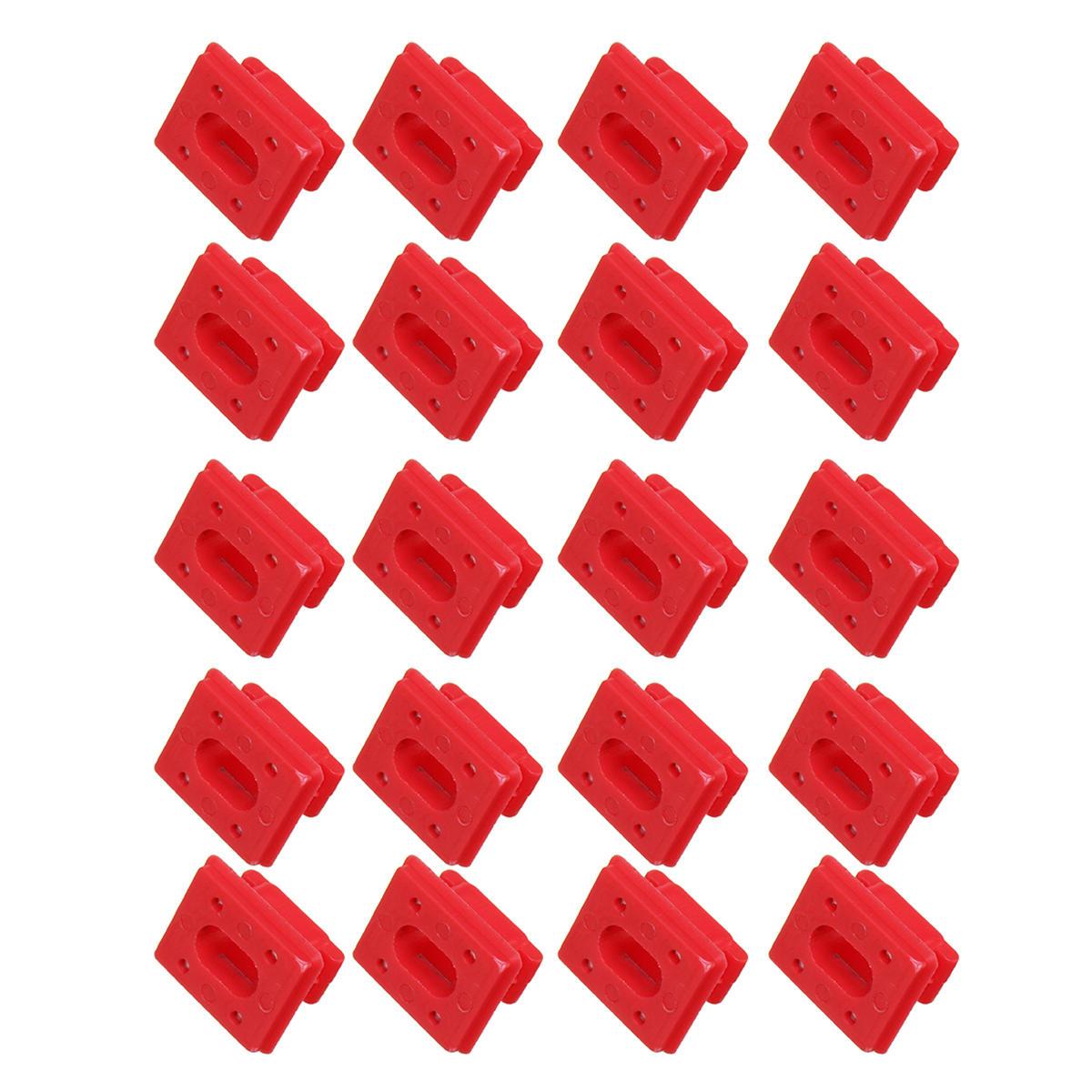 20pcs / set Dashboard Dash Trim Strip Clips Red Insert Grommets Keeper Clip Fit para BMW E46 E65 / E66 E83N Hebillas de