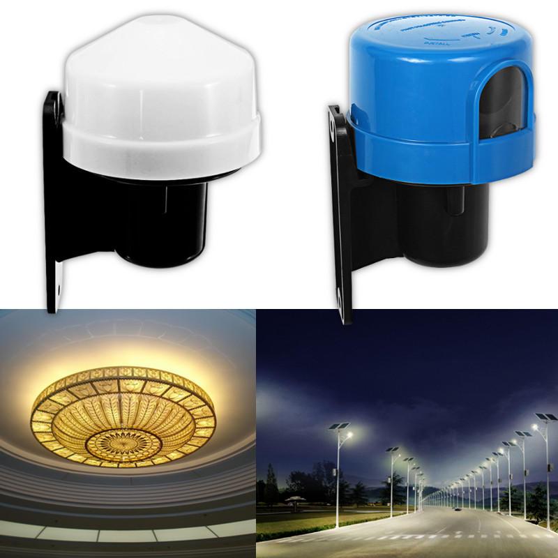 220-240V Control de luz de la fotocélula Sensor Interruptor Luz del día Anochecer Hasta el amanecer Temporizador del int
