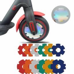 2 uds Scooter Eléctrico pegatina de rueda delantera PVC motor cubierta protectora Shell Kick Scooter accesorios para Xia