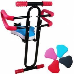 BIKIGHT Sillín de bicicleta para niños extraíble Tubo de acero Marco de asiento de seguridad Bicicleta eléctrica Asiento