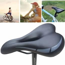 Sillín de bicicleta suave Mountain MTB Gel Sillín de bicicleta cómodo Cojín de asiento de ciclismo al aire libre Ciclism