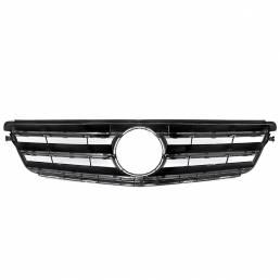 Parrilla de rejilla superior delantera negra brillante para Mercedes Clase C W204 C180 C200 C300 C350 2008-2014