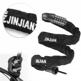 JINJIAN 6mm Thicken Anti Código de robo Candados de bicicleta Multifunción Fácil de instalar Contraseña sin llave Candad