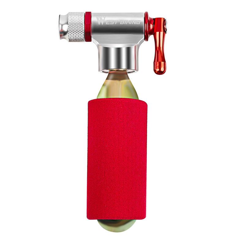 WEST BIKING CO2 Bomba de aire de alta presión portátil Mini bomba de bicicleta infladora liviana sin tanque de CO2