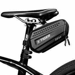 Sillín de bicicleta X-TIGER ES7 Bolsa Impermeable Bicicleta de ciclismo Bolsa Estuche rígido de PU 3D 1.2L Bicicleta por