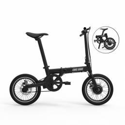 CMSBIKE XIAOKE 36V 250W Motor Sin escobillas 158.4WH Bicicleta eléctrica plegable negra de 16 pulgadas 20Km / h 30-50Km