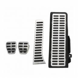 4 piezas de embrague freno de combustible resto de pie MT pedales almohadillas de acero para VW Jetta MK5 Golf MK6