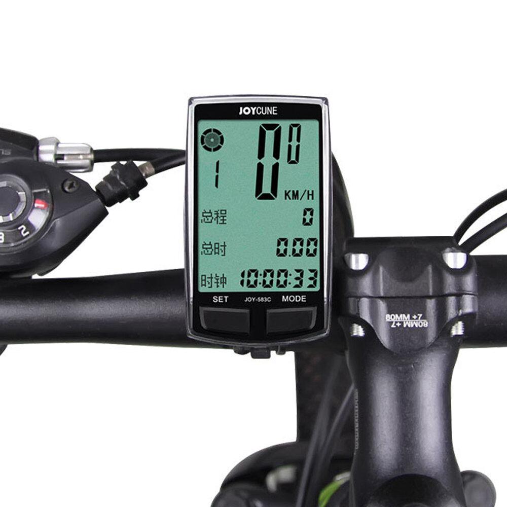 Nuevo Ordenador para bicicleta SD-583C 16 funciones Cadencia del odómetro de la bicicleta Sensor LCD Retroiluminación Mo