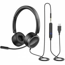 Nuevo Bee H360 Auriculares USB para PC Auriculares comerciales de 3