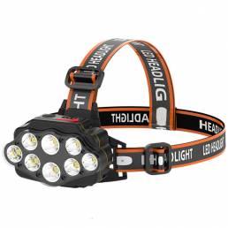 800LM 5 LED Faro delantero USB recargable cámping Faro principal pesca Linterna Impermeable Linterna frontal Linterna