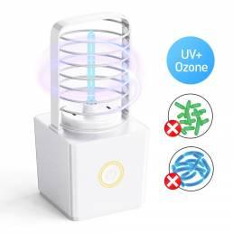 ZW03 Portátil UV Germicida de ozono Lámpara Luz de esterilización doble Carga USB inalámbrica Luz de esterilizador de ár