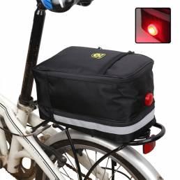 Asiento trasero de bicicleta de tela Oxford de 4.5L Bolsa con luces